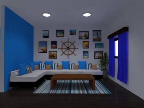 Diseños G2 : Salas de estilo moderno por DISEÑOS G2