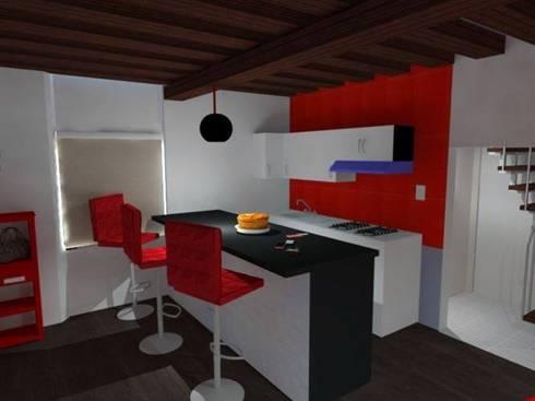 Diseños G2 : Cocinas de estilo moderno por DISEÑOS G2