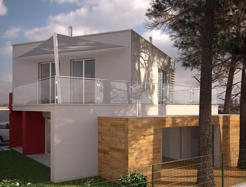 Alçado Lateral Esquerdo: Casas modernas por Miguel Ferreira Arquitectos