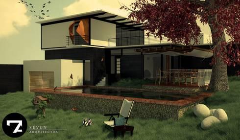 Proyectos Interiorismo: Jardines de estilo moderno por Seven Arquitectos