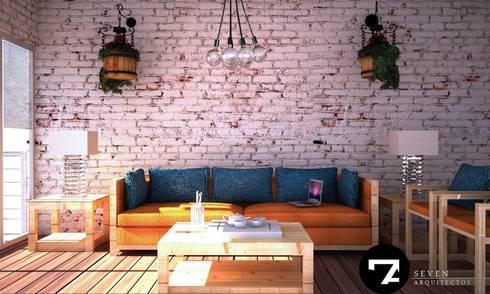 Proyectos Interiorismo: Salas de estilo moderno por Seven Arquitectos