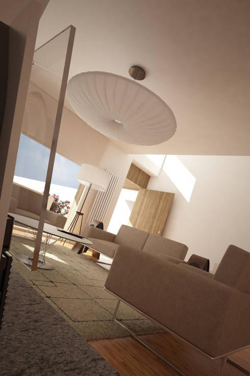 Casa SN: Salas de estar modernas por Rúben Ferreira | Arquitecto