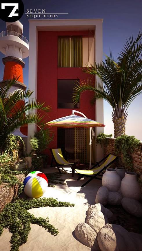 Jardines de estilo  por Seven Arquitectos