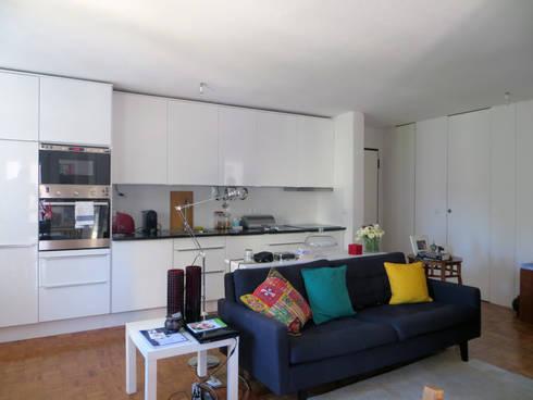Apartamento Miguel Nabais: Cozinhas modernas por Atelier Alvalade