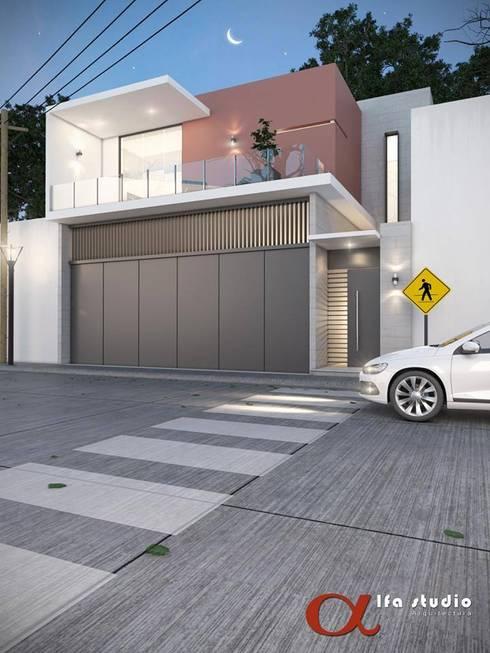 Alfa Studio Arquitectura: Casas de estilo moderno por alfa studio arquitectura