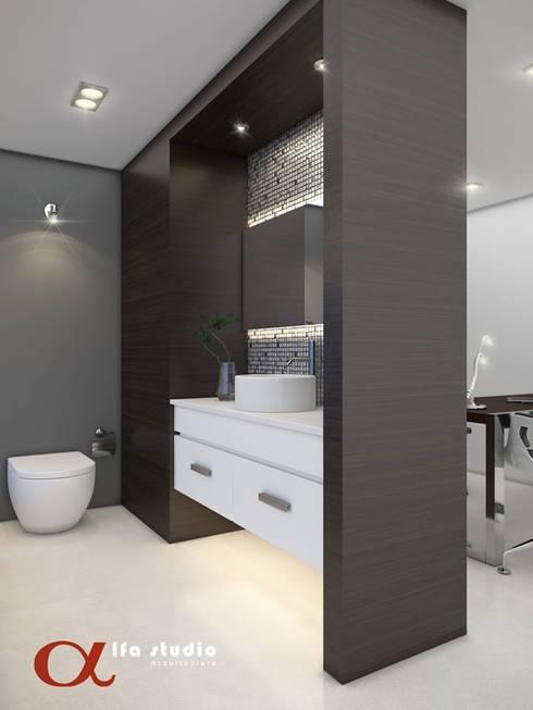 Alfa Studio Arquitectura: Baños de estilo  por alfa studio arquitectura