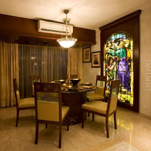 Apartment: modern Dining room by archana_kejriwal