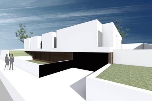 Vista 3d - Zona de entrada:   por a-tuar arquitetura