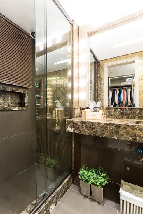 Camarim: Banheiro  por B+R Arquitetura