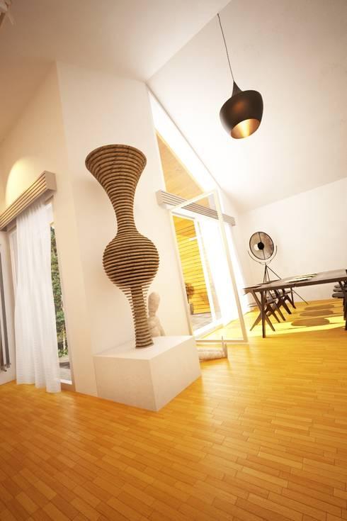 Casa AC: Salas de jantar modernas por Rúben Ferreira | Arquitecto