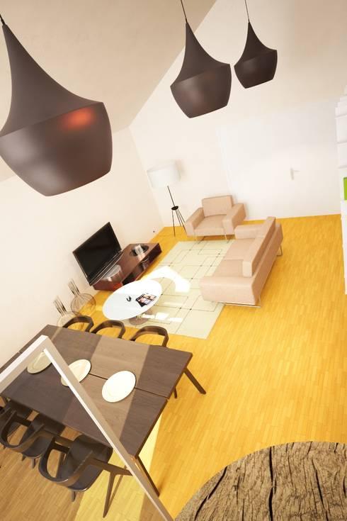 Casa AC: Salas de estar modernas por Rúben Ferreira | Arquitecto