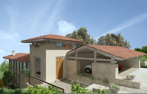 Casa Tres Marias- Boué Arquitectos : Casas de estilo rústico por Boué Arquitectos