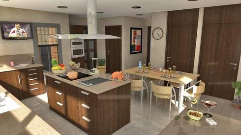 Arquitectura+: Cocinas de estilo moderno por Arquitectura +