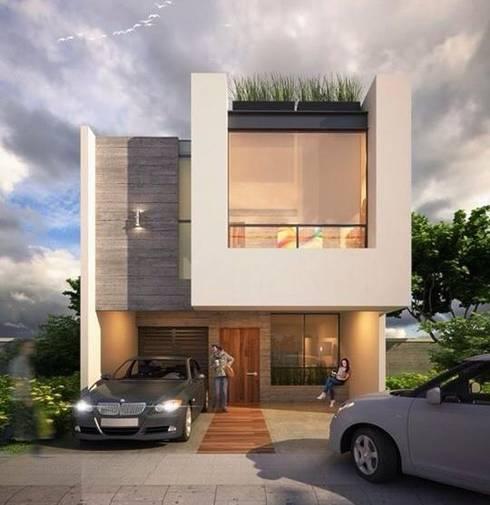 Espacea: Casas de estilo moderno por ESPACEA