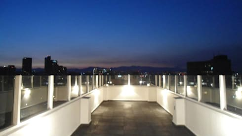 Torcuato Tasso#411-PH, Polanco: Terrazas de estilo  por PI Arquitectos