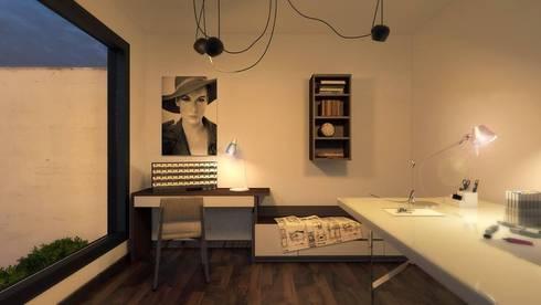 Espacios: Recámaras de estilo moderno por Iluminature