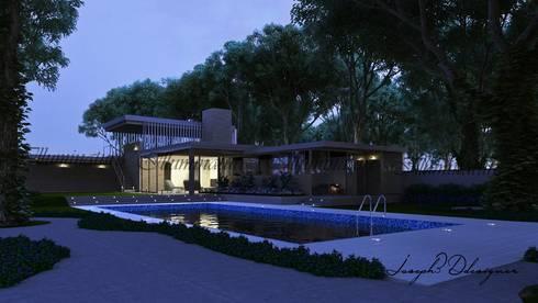 Espacios: Jardines de estilo moderno por Iluminature