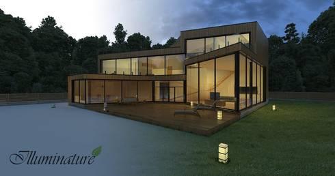 Espacios: Casas de estilo moderno por Iluminature