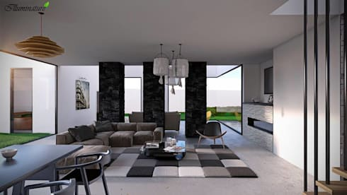 Espacios: Salas de estilo moderno por Iluminature