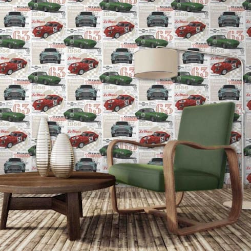 Wallpapers: Salas de estilo moderno por BLAUHAUS