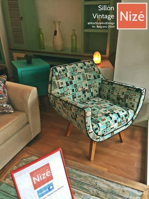 Estilo Vintage: Livings de estilo  por nizemuebleria
