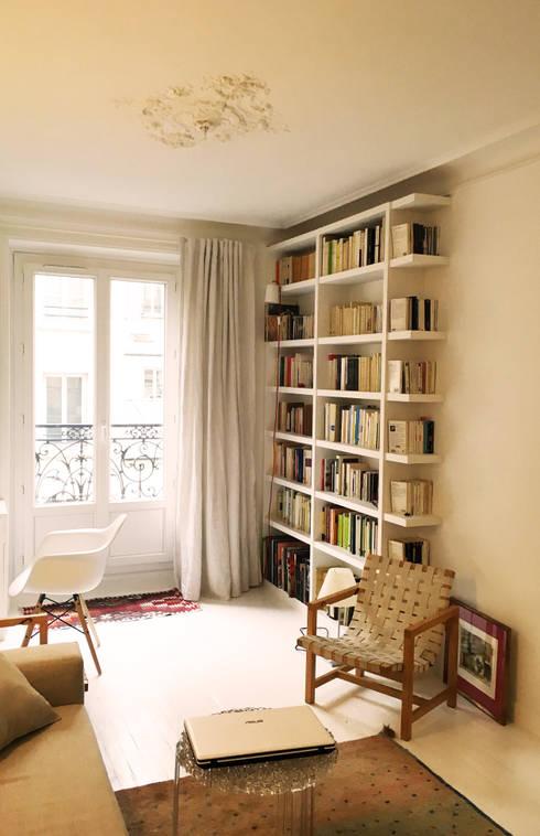 bibliotheque': Salon de style de style Scandinave par Agence KP