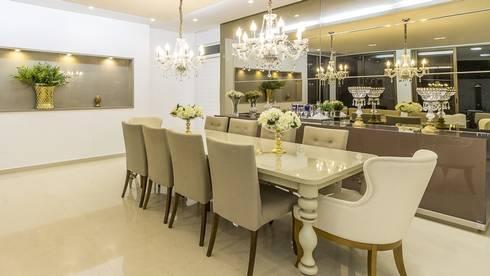 Residência A S - Marina Brasil Arquitetura: Salas de jantar modernas por Marina Brasil Arquitetura