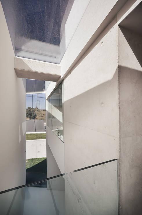 Vista Interior: Corredores e halls de entrada  por guedes cruz arquitectos
