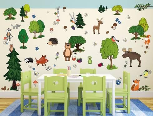 Kinderzimmer wandsticker von i love homify for Wandtattoo kinderzimmer waldtiere