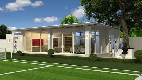 Salon de juegos Tecamachalco: Casas de estilo moderno por Boué Arquitectos