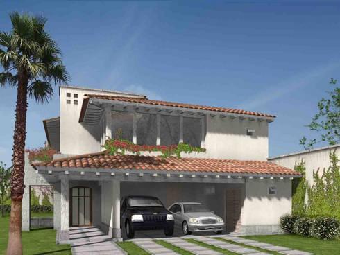 Casa Valle Real- Boué Arquitectos : Casas de estilo rústico por Boué Arquitectos