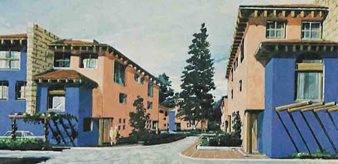 Villas de los Cedros- Boué Arquitectos : Casas de estilo rústico por Boué Arquitectos
