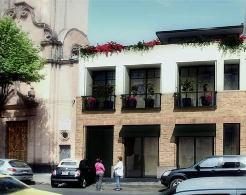 Sabino 190- Boué Arquitectos : Balcones y terrazas de estilo rústico por Boué Arquitectos