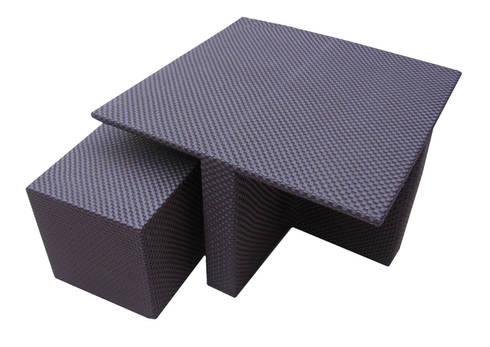 Mesa Cubo tejida / Conjunto Chelem : Paisajismo de interiores de estilo  por Maria Juana Art