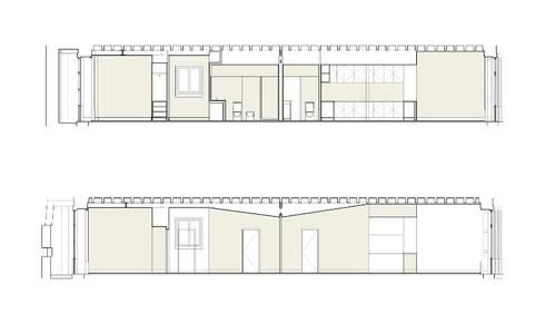 CORTES LONGITUDINAIS: Paredes  por COLECTIVO arquitectos