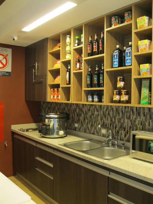 HF HEALTHY FOOD'S: Restaurantes de estilo  por OPFA Diseños y Arquitectura