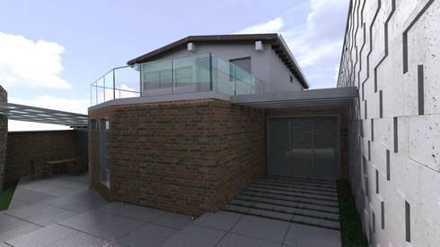 Diseño de Patio y Fachada Trasera: Terrazas de estilo  por Gabriela Afonso