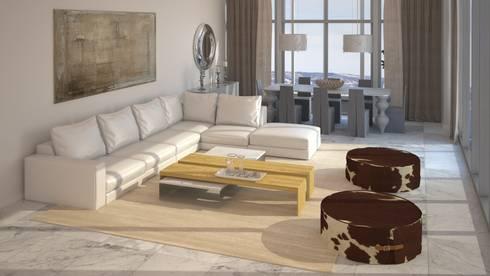 Diseño de Sala: Salas / recibidores de estilo moderno por Gabriela Afonso