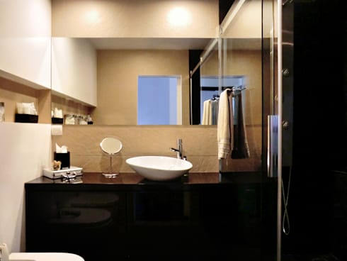 Remodelação de Apartamento: Casas de banho modernas por LXL - Lisbon Lifestyle