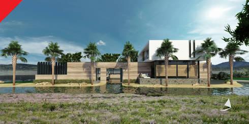 Casa de Campo Querétaro: Casas de estilo minimalista por Tectónico