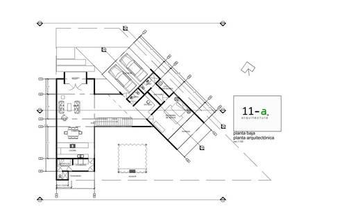 Plano Arquitectónico Planta Baja:  de estilo  por VIVAinteriores