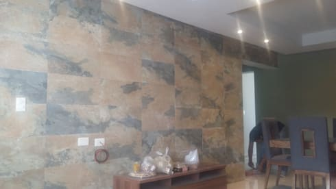 Intorior Residencial Deneb: Salas de estilo moderno por VIVAinteriores