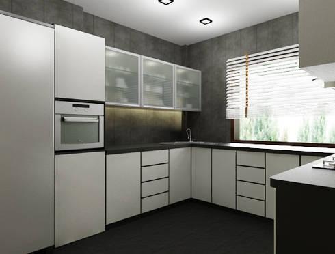 Suneja Residence: modern Kitchen by Space Interface