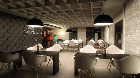 Café Bar: Bares e clubes  por Cíntia Schirmer | Estúdio de Arquitetura e Urbanismo