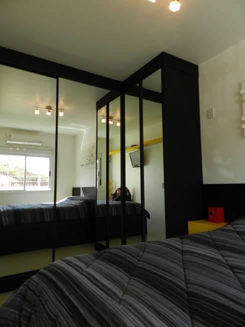 dormitório jovem: Quartos  por ANE DE CONTO  arq. + interiores