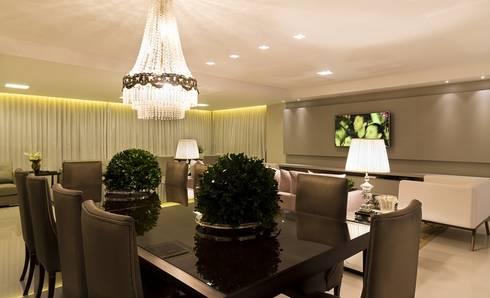 Apartamento G2: Salas de jantar clássicas por Valdete Duarte