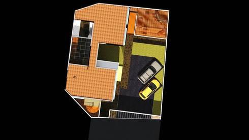 Casa Tlalpan :  de estilo  por Arquitectos I + A
