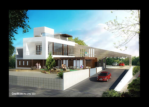 A MODERN PRIVATE RESIDENCE  DESIGNED ON THE GUIDELINES OF VASTU AND THE SITE CONDITIONS. EVERY CORNER HAS BEEN DETAILED KEEPING IN MIND THE VARIOUS MOODS AND STYLES A DESIGNER ASPIRES TO OFFER IN A SINGLE PROJECT ITSELF:   by AIS Designs