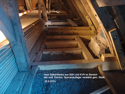 Holzbalkendecke Sanieren sanierung der historischen holzbalkendecke im dachstuhl schloss
