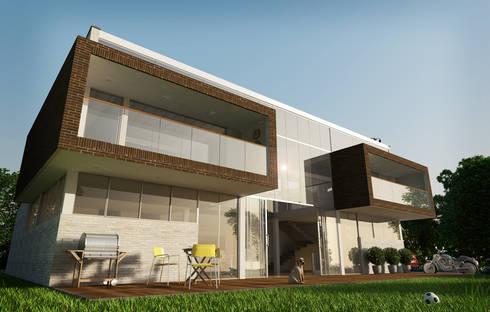 CASA POLANCO: Casas de estilo moderno por Lápiz De Sueños